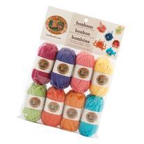 Lion Brand Yarn 601-610 Bonbons Yarn, Brights