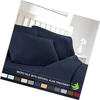 Luxury Bed Sheet Set - Soft MICRO SILK Sheets - King Size,