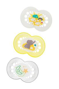 MAM Night & Day Pacifier, Unisex, 6+ Months, 3-Count