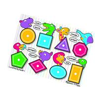 MELISSA & DOUG SHAPES PEG PUZZLE 11-3/4 X 8-1/2