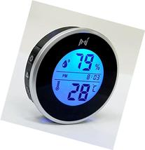 MIEO Round Digital Hygrometer Thermometer for Humidor HH654