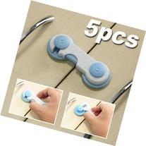 MKPLY 5 PCS Blue Adhesive Kids Baby Child Safety Cabinet