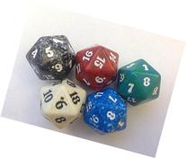 MTG Spindown D20 Life Counter - Set of 5 Colors Lot  by