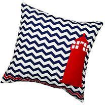 MWW Manual Indoor/Outdoor Throw Pillow,  Nautical Lighthouse