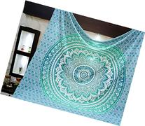 Madhu International 90-Inch by 108-Inch Mandala Tapestry,