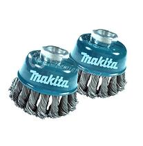 Makita® 2 Pack - 3 Inch Knotted Wire Cup Brush For Grinders