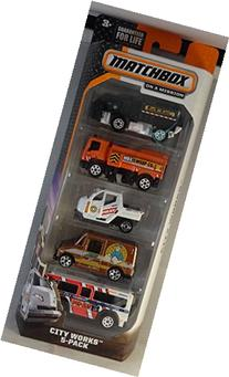 Matchbox, 2015 On a Mission, City Works 5-Pack