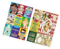 Melissa & Doug 2 Pack Sticker Bundle: Make-a-face and Make-a