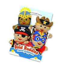 Melissa & Doug Bold Buddies Hand Puppets  - Knight, Pirate,