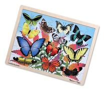 Melissa & Doug Butterfly Garden Wooden Jigsaw Puzzle With