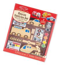Melissa & Doug Decorate-Your-Own Wooden Rescue Vehicles