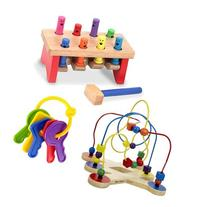 Melissa & Doug Deluxe Pounding Bench with Classic Toy Bead