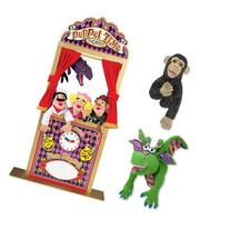 Melissa & Doug Deluxe Puppet Theater Bundle with Dragon, and