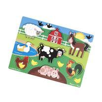 Melissa & Doug Farm Wooden Peg Puzzle