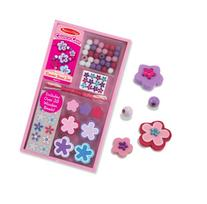 Melissa & Doug Wooden Flower Bead Set With 35+ Beads and 3