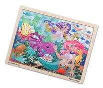 Melissa & Doug Mermaid Fantasea Wooden Jigsaw Puzzle With