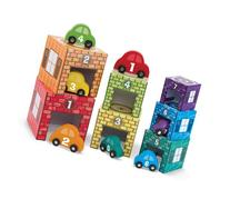 Melissa & Doug Nesting and Sorting Garages and Cars With 7
