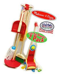 Melissa & Doug Wooden Let's Play House! Dust, Sweep, Mop &