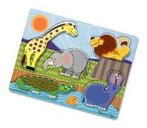 Melissa & Doug Zoo Animals Touch and Feel Textured Wooden