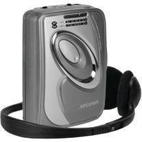 Memorex - Cassette Player With Am/fm Radio - Gray