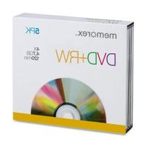 Memorex Products - DVD+RW, w/ Jewel Case, 4.7GB 5/PK