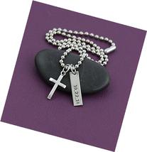 Men's Cross Necklace - DII - Boys Confirmation Gift -