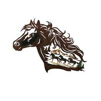 Collections Etc Metal Western Horse Silhouette Wall Art with