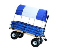 Millside Industries Classic Wood Wagon with Blue and White