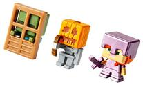 Minecraft Mini Figure 3-Pack, Alex with Enchanted Armor,