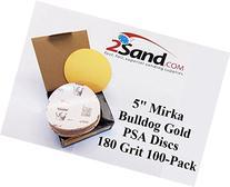 Mirka 23-332-180 5 Bulldog Gold  180 Grit PSA Sanding Discs