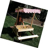 Modern Home Wooden Picnic Table with Sandbox and Adjustable
