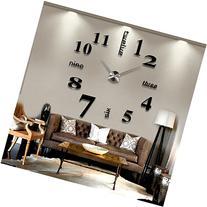 Modern Mute DIY Frameless Large Wall Clock 3d Mirror Sticker