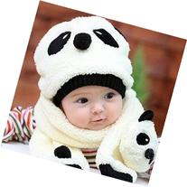 Mokingtop Children Hat 100% Wool Hat+Scarf Two Piece Set