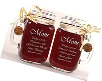 Mom Wedding Gift Mason Jars, Mother of the Groom Gift,