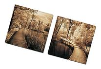 Mon Art Greenway Highway Brown Trees Wooden Bridge Portray