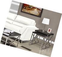 Monarch Specialties I 3271, Nesting Table, Chrome Metal,