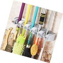 Mop and Broom Holder, Hometek Broom Organizer, Garage