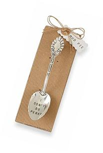 Mud Pie Perky Coffee Spoon, Silver