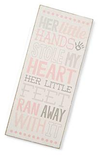 Mud Pie Plaque, Little Hands, Pink