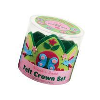Mudpuppy In the Garden Felt Crown Set
