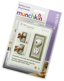 Munchkin XTRAGUARDSafety Lock Plug Covers, 8-Count