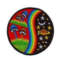 Mushroom Hippie Weed Boho Retro Pot Lsd Love Peace Applique