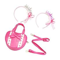 Girls Purse with Two Princess Head Bands Combo