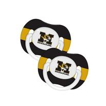 NCAA Missouri Tigers 2 Pack Pacifier
