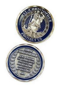 NEW St. Christopher Challenge Coin