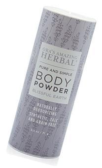 Natural Body Powder, No Talc, Corn, Grain or Gluten,