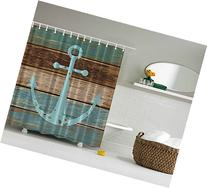 Nautical Anchor Rustic Wood - Shower Curtain - Water, Soap,