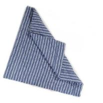 Navy Multi-Stripe Floor Quilt