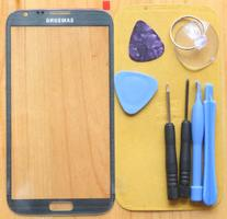 Gray Replacement Front Screen Glass Lens for Samsung Galaxy