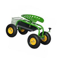 New Green Heavy Duty Gardening Planting Garden Cart Rolling